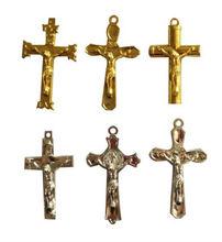 plastic golden plated crucifix cross