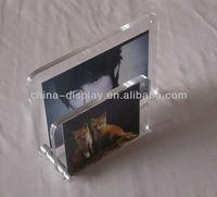 Acrylic magnetic panel photo frames