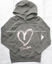 Children's Pullover hooded jacket long for kids 2012