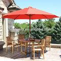 legno ombrellone da giardino con tavolo