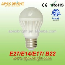 E27 E14 E17 B22 led spotlight bulb with Dimmable 110V/220V