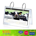 2014 ox acrylic calendar with 2 metal rings from shenzhen
