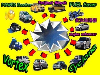 Cyclone Vortex Power Fuel Saver and Power Booster Jimat Minyak Petrol Gasoline Diesel NGV Gas