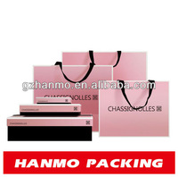 decorative pink wax lined paper bags