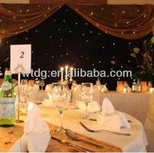 Fibre optics star cloths, White color , twinkle,DMX control Charming LED Wedding Light Curtain