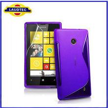 Laudtec New arrival S line tpu soft back case for Nokia lumia 520 tpu case cover