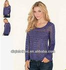 Three-dimensional woven ladies fashion knitwear american one clothing