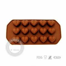 Heart shape silicone ice cube tray foe promotion