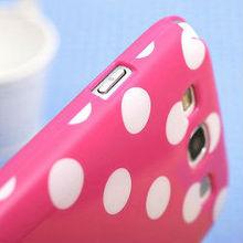 Fashion back cute dot tpu skin case for galaxy s3