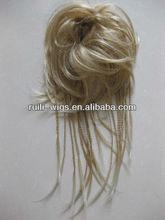 Heat-Friendly synthetic fiber hair wrap ,multiple looks like Updo, Chignon, or Wavy Wrap