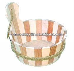 rope handle wooden bucket for sale