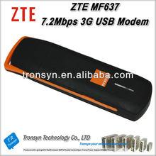 100% Original Unlock 7.2Mbps ZTE MF637 3G HSDPA USB Stick Modem Support UMTS/HSDPA 2100MHz