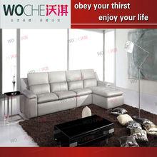 classic furniture leather sofa simple sofa living room furniture (WQ6869)