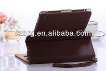 For iPad Mini Leather Case,Elegant Protective Leather Wallet Case for iPad Mini with Stand + Handstrap
