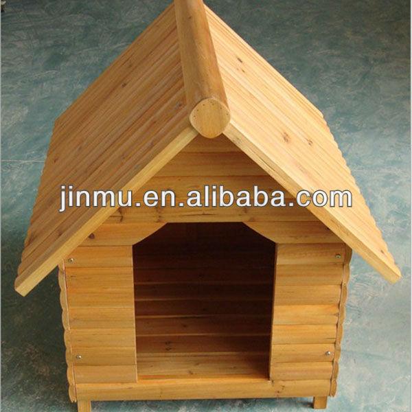 Custom wooden dog house