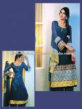 Blue designer shalwar kameez Material