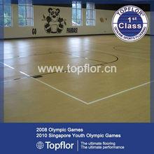 Pvc indoor basketball&volleyball sports flooring
