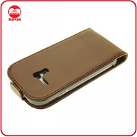 Wholesale Brown Leather Slim Fit Flip Case Cover for Samsung Galaxy S3 Mini I8190
