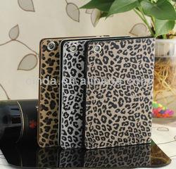 Newest Arrival Leopard flip leather Case for apple ipad mini