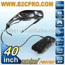 1.3MP camera mp4 video glasses