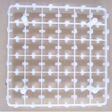 White 42 Eggs Plastic Quail Egg Tray For Poultry House