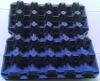 Blue Empty Paper Egg Trays For 20 Jumbo Eggs