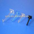 exhibición de acrílico transparente ganchos