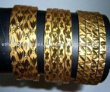 Fashion Gold Plated Polki Bangles