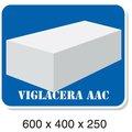 Concreto ventilado esterilizado Block - Viglacera - 600 x 400 x 250