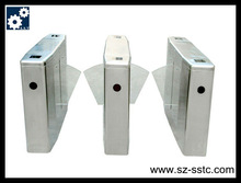 Fingerprint access control factory price of flap turnstile with high quality/Automatic steel barrier