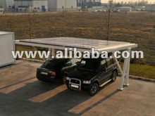 Large photovoltaic car shelter