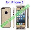 Bling Style Glitter Skin Sticker for iPhone 5 (Golden)