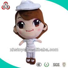 big head stuffed plush human nurse doll toys