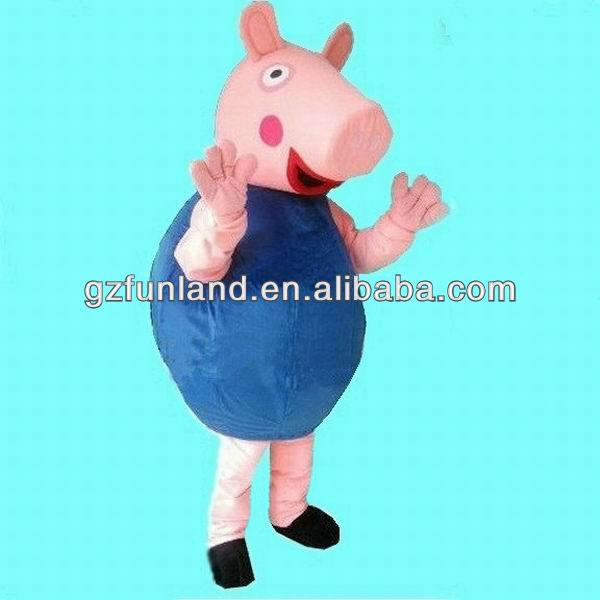 Personaggi dei cartoni animati di george/peppa pig mascotte/animale
