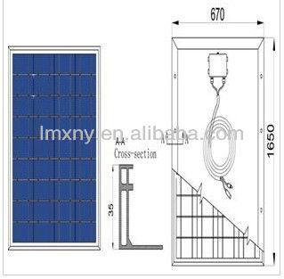 2013 panels solar 150W ,34.8V Polycrystalline Solar Panel