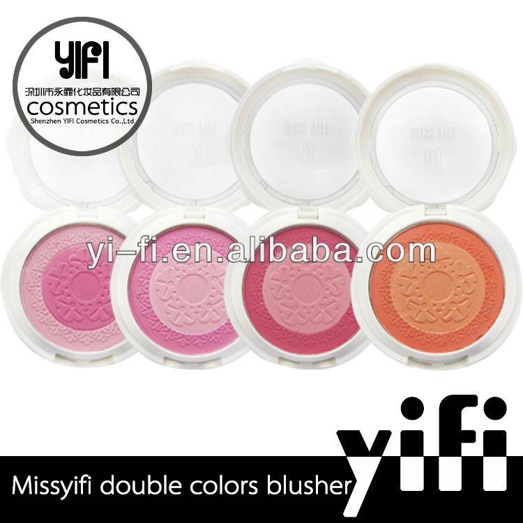 Manufacture! Missyifi mix colors makeup blush palette loose mineral powder