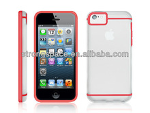 snap on plastic cystal hard case for iphone 5c