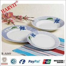 Blue Design Disposable Tableware Porcelain 18pcs Dinner Set