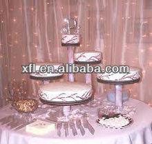 Tube shape acrylic cake display stand for wedding
