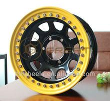 steel suv wheel rims 17x9 for Jeep, 4x4 beadlock wheel