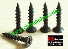 carbon steel screw wood screw black/grey phosphated phillips drywall screws gypsum board screw furniture coarse/fine thread