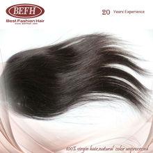 100% Wholesale Raw Brazilian Virgin Straight hair Lace closure Natural color edge