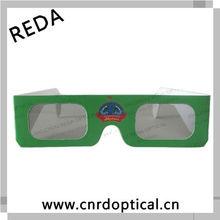 Paper circular polarized 3D glasses,custom top quality foldable fan