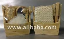 wooden bath set