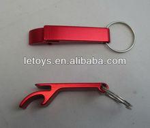 cheap aluminum bottle opener keychain/ keyring