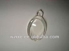 cheap round clear acrylic keychain