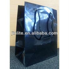 black glossy laminated art paper bag