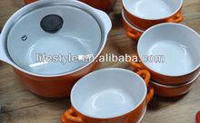 Eco friendly ceramic dutch oven casserole sauce pot cookware