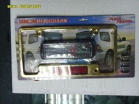 SCROLLING MESSAGE PLATE FRAMES CAR MOTOCYCLE