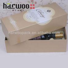 New Wine Case With Glasses Paper Wine Storage